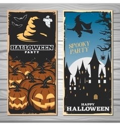 Halloween Party Flyers vector image