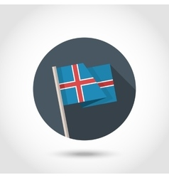 Iceland Flag in flat style vector image