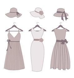 Vintage fashion items vector