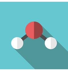 Water molecule long shadow vector image