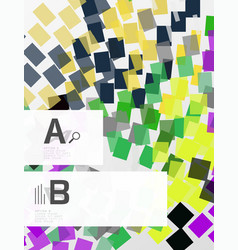 geometrical abstract background with infographics vector image vector image