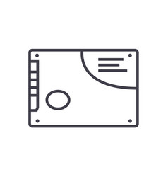 memory card ssd line icon sign vector image vector image