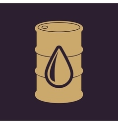 The barrel icon Cask and oil gasoline petrol vector image