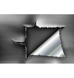 background torn metal vector image vector image