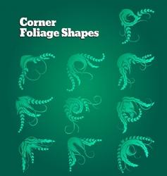 corner foliage shapes vector image vector image