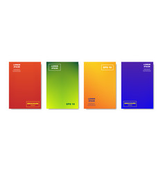 minimalistic abstract covers design colorful vector image