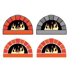 Set of ovens vector