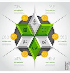 3d business diagram circle template vector image