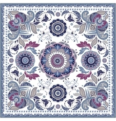 Design for square pocket shawl textile vector image vector image