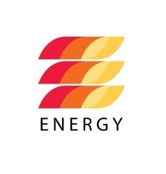 Energy power logo template leter E brand vector image