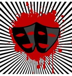 mask stripes vector image