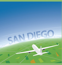 san diego flight destination vector image vector image