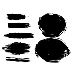 Set of artistic brush vector image vector image