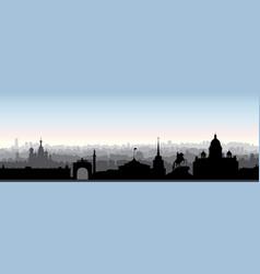 st petersburg city skyline russia tourist vector image vector image