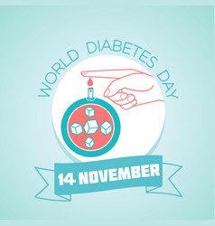 14 november world diabetes day vector