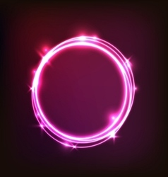 Abstract glowing pink background with circles vector