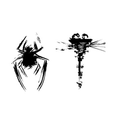 Abstract insects vector image