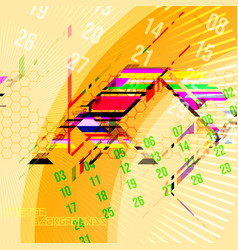 abstract motion colors concept on a yellow vector image