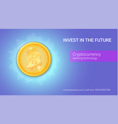 Advertisement virtual currency bitcoin icon of vector