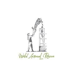 Animal wild giraffe rescue zoo concept vector