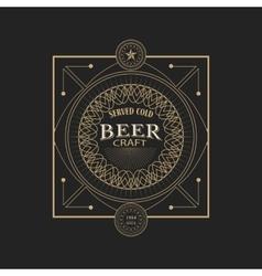 Antique frame vintage border craft beer label vector