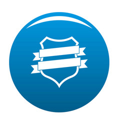 badge design icon blue vector image