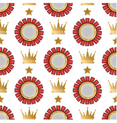 badges shop product seamless pattern vector image