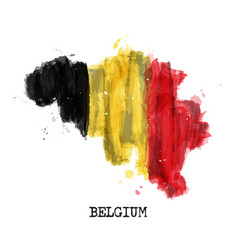 belgium flag watercolor painting design country vector image