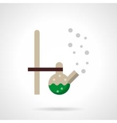 Biotechnology laboratory flat design icon vector