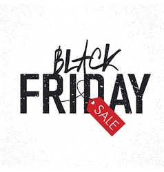 black friday typography vector image