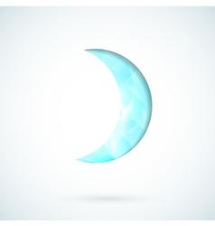 Blue moon geometric background vector image