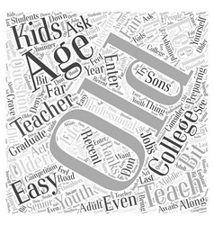 Can You Teach if You Are Old Word Cloud Concept vector