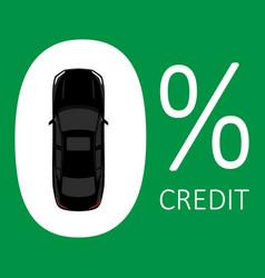 car credit concept zero rate vector image