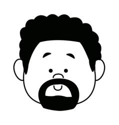 cartoon face man person avatar male profile vector image