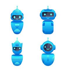 chatbots character set vector image