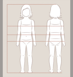 Child body measurements vector