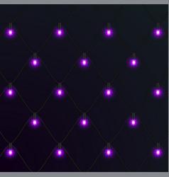 Christmas neon garlands new year vector