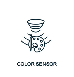 Color sensor outline icon thin line style from vector