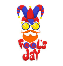colorful fools day concept vector image