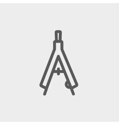 Compasses thin line icon vector