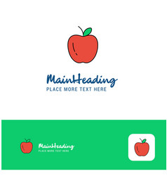 creative apple logo design flat color logo place vector image
