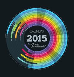 creative design calendar poster vector image