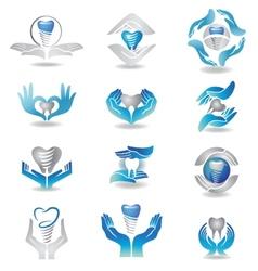 Dental implants vector