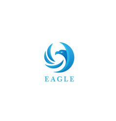 Eagle bird logo concept vector