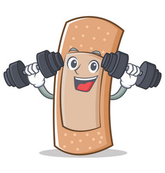 fitness band aid character cartoon vector image