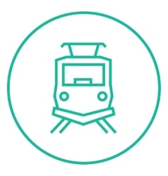 Front view of train line icon vector image