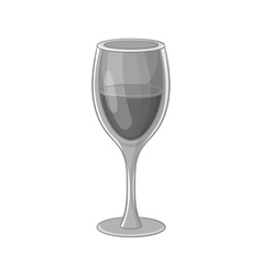Glass of wine icon black monochrome style vector image