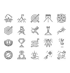 goal and achievement icon set vector image