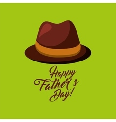 Greeting fathers day hat lettering vector