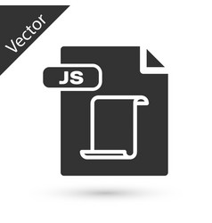 Grey js file document download js button icon vector